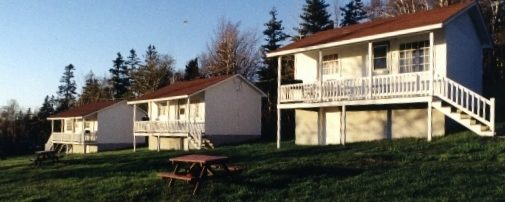 Three of our campground cottages.