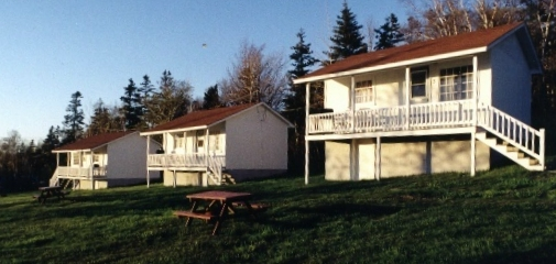 Three of our seven campground cottages.