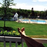 A view of the pool from one of our cottages.