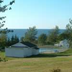The campground's view of the Bay of Fundy.