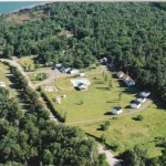 An aerial view of the campground.