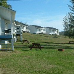 A view of our seven campground cottages.